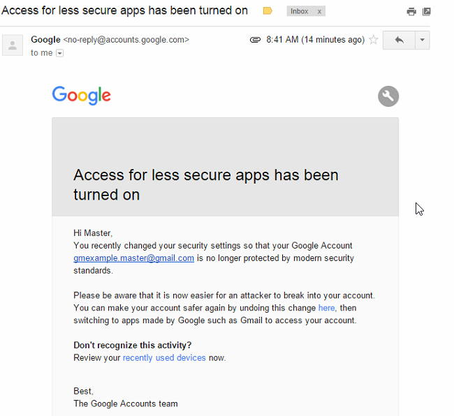 Google Apps or Gmail accounts cannot connect to Gmail mail