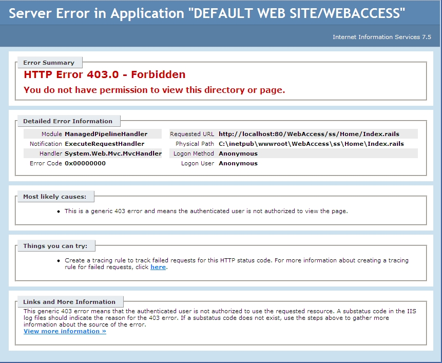 403 - Forbidden error when logging in or out of Self Service