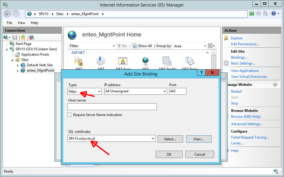 What needs to be configured to change DSM http synchronization to
