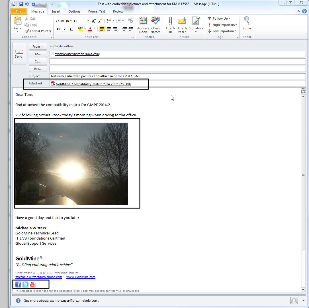 When forwarding or re-directing Emails some attachments seem