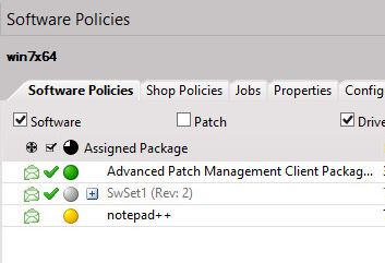 Problem with software deployment - Policy Instance is delivered but