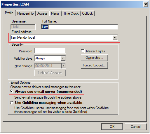 How can you set users to receive external emails when they are set