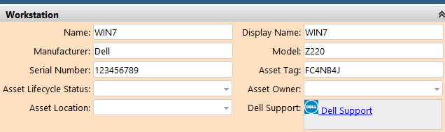 Accessing Dell Device Warranty Page From Ticket Screen