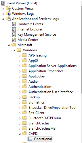HOWTO: Enable CAPI2 event logging for investigating
