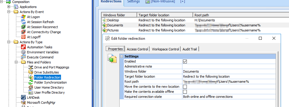 Attributes on redirected folders are not set correctly by