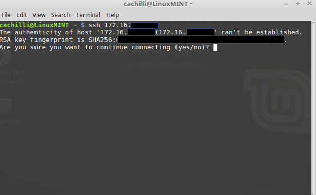 Velocity: Obtaining the Known_Hosts with Linux