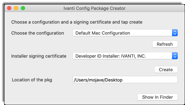 How to Create an Ivanti Agent Configuration pkg for Mac