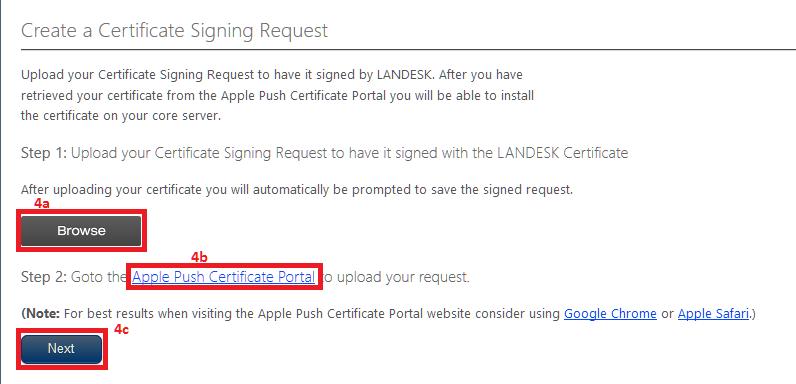Adding/Renewing Apple APNS Certificate to LDMS Core
