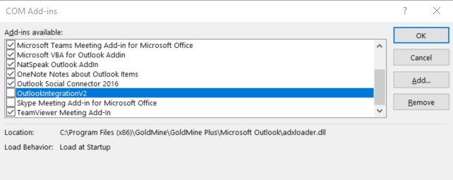Microsoft Outlook wants to disable the Outlook Add-in as it