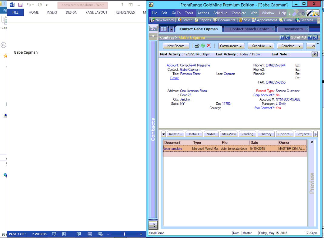 Document Management Center (DMC) does not recognize .dotm Pertaining To Word Macro Enabled Template