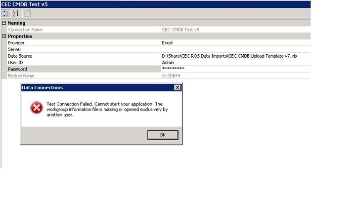 Error Importing An Excel File Which Has Certain Areas Protected