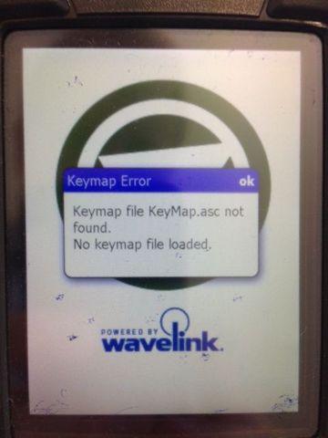 wavelink IB - KeyMaps asc not found