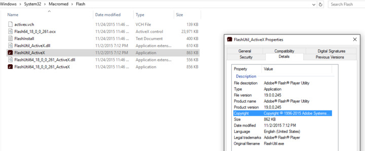 Adobe Flash FLASHPLAYERESRv18 0 0 261 Breaks ActiveX Flash for