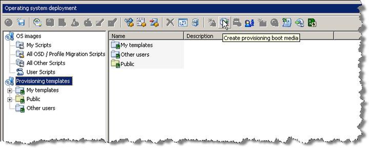 Create landesk winpe boot CD