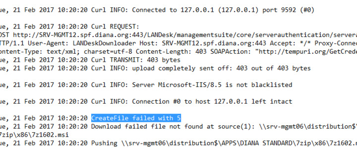LDMS 2016 3 : unable to deploy distribution packages