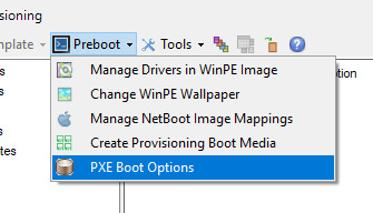Will not PXE boot using UEFI