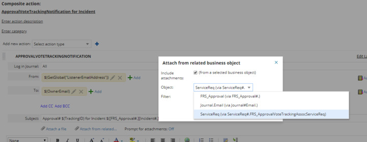 How to add attachment in approval notification